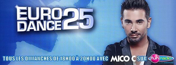 Classement Eurodance 25 de Fun Radio par Mico C (23/03/2014)
